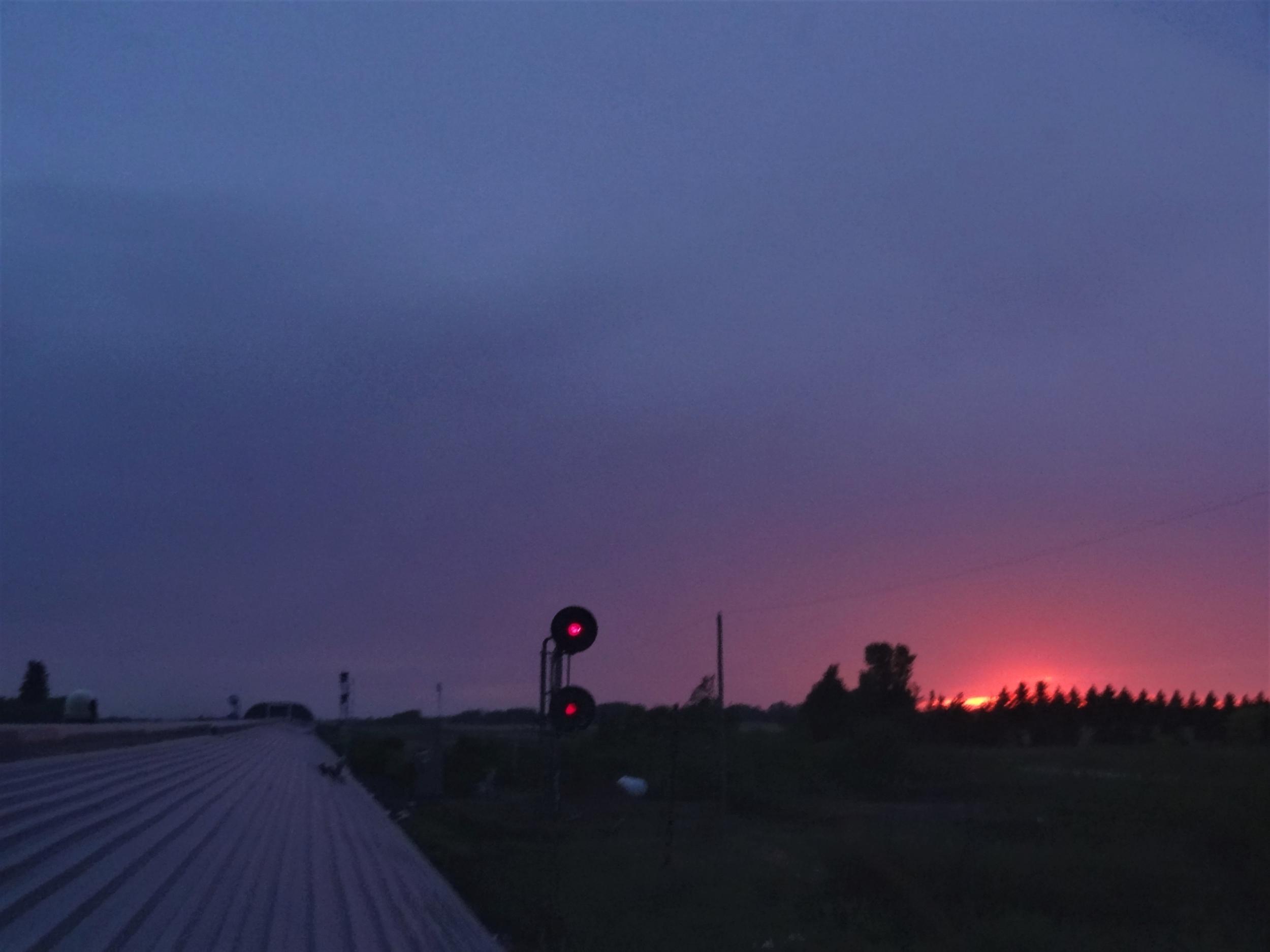 coucher soleil viarail