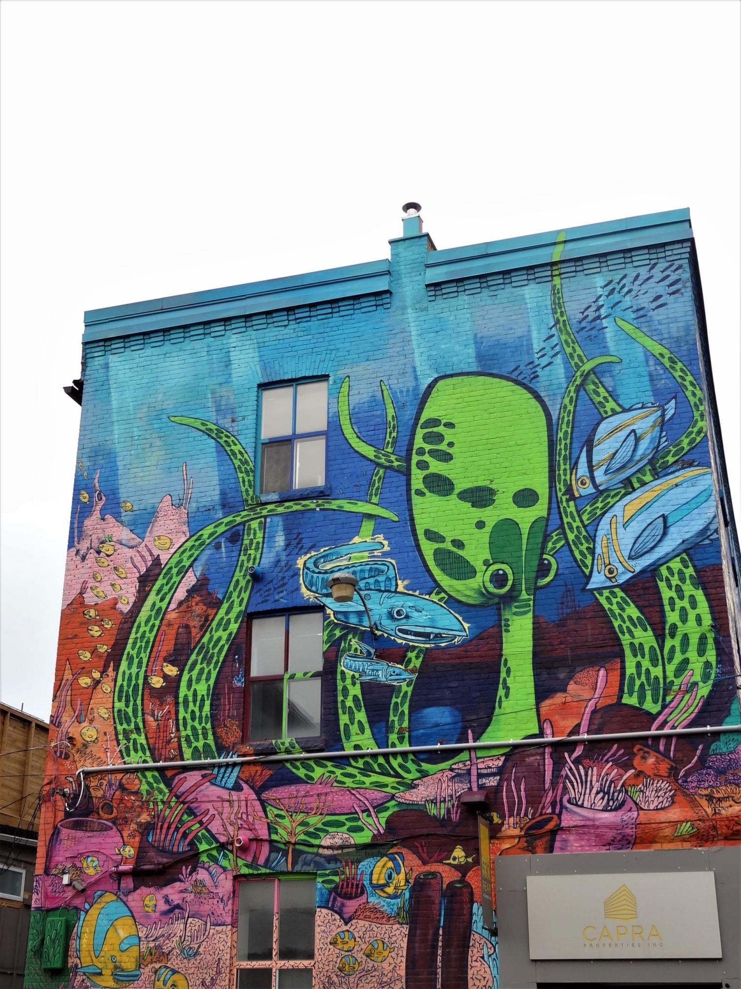 Street Art Pieuvre Toronto