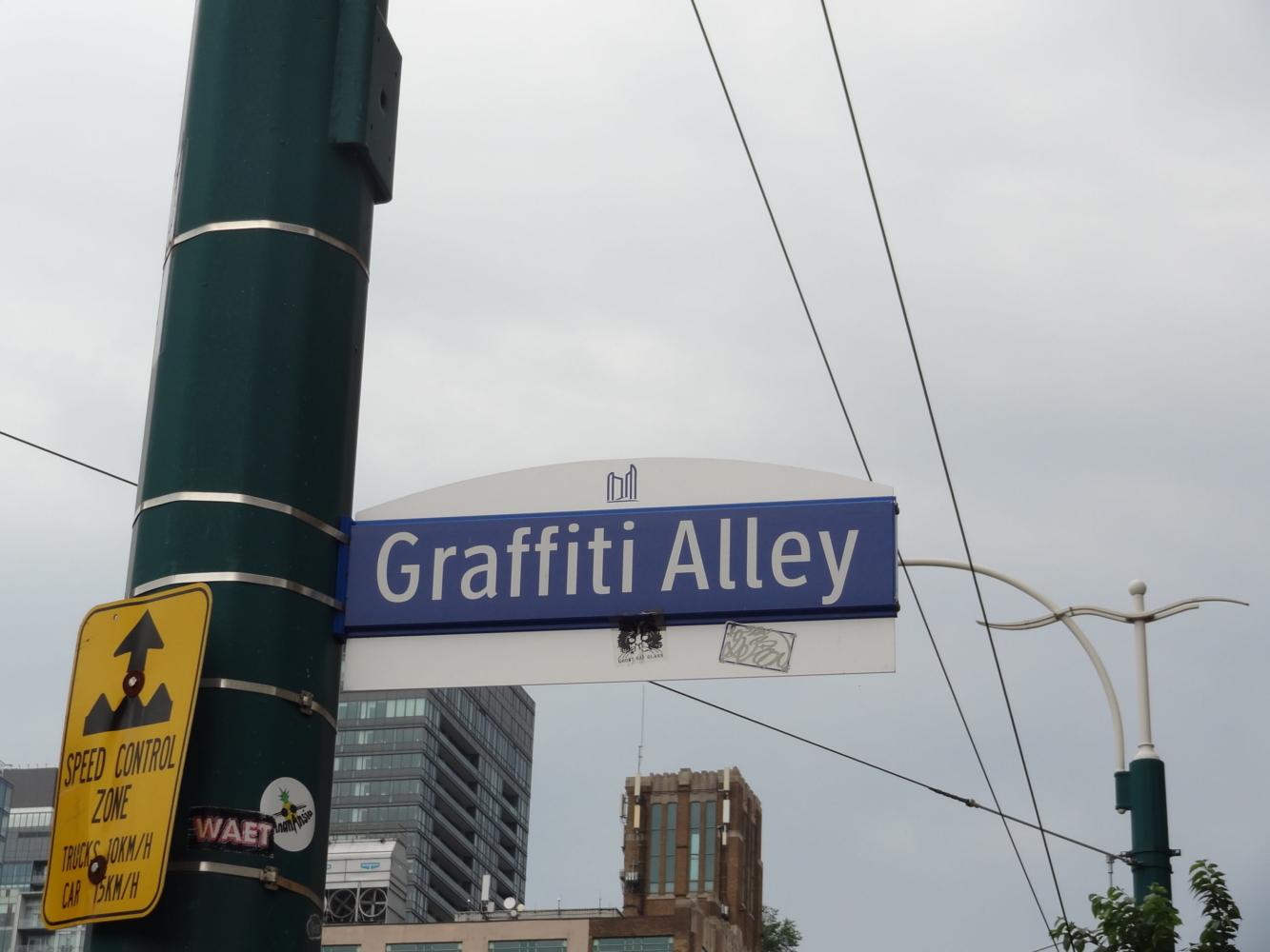 Graffiti Alley Panneau Toronto